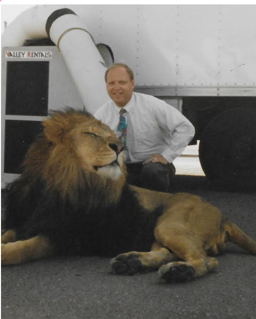 Harry Tate and the MGM Lion